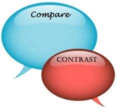 Characteristics of comparison and contrast essay